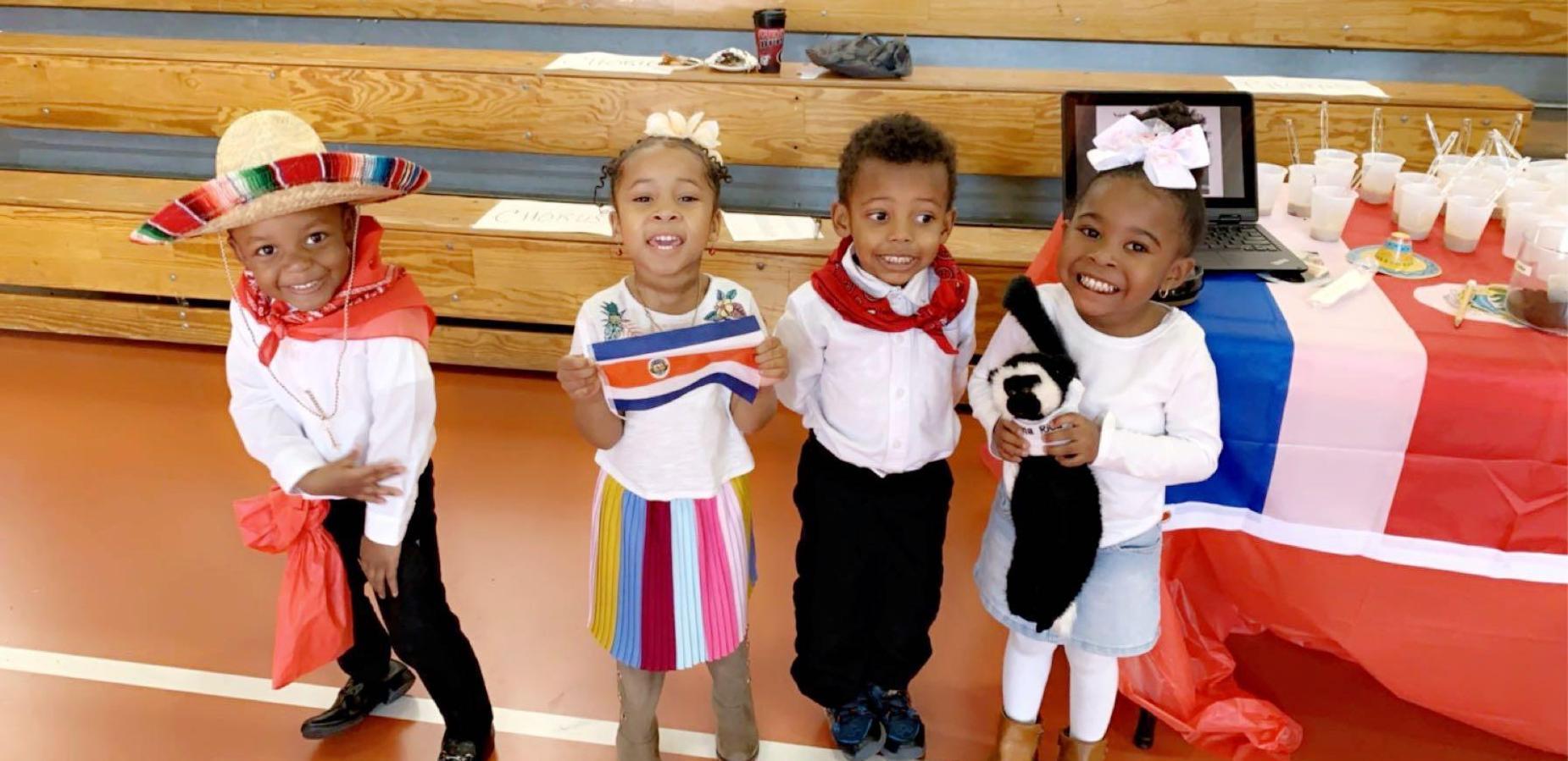 Students at Cultural Fair