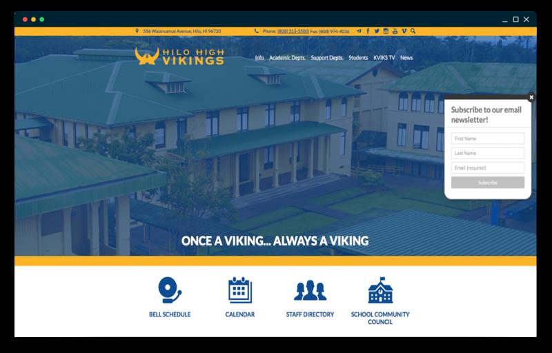 School Website Design of the Week: 11/1/18 Featured Photo