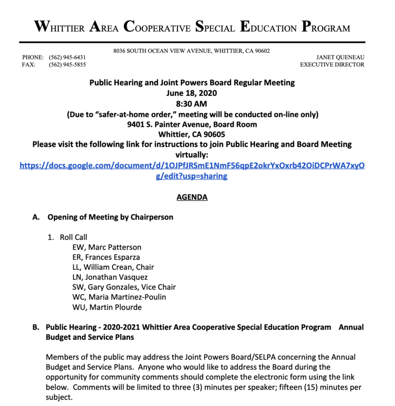 Link To PDF Document - WACSEP Public Hearing and Joint Powers Board Regular Meeting