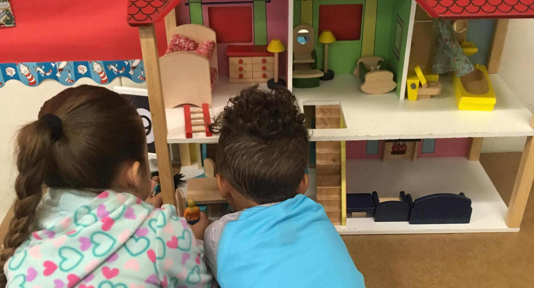 TK students playing in class.