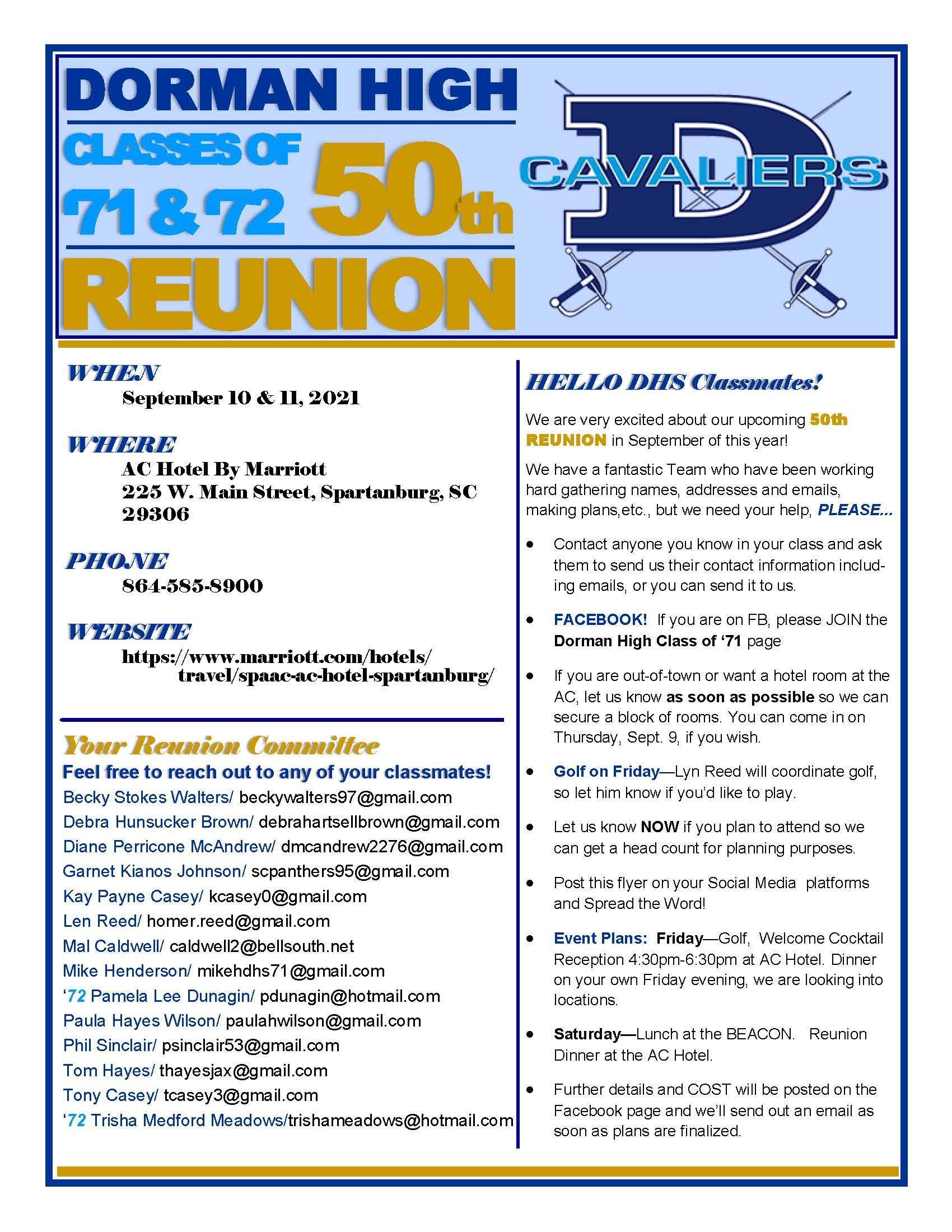 Class of 71 & 72 Reunion