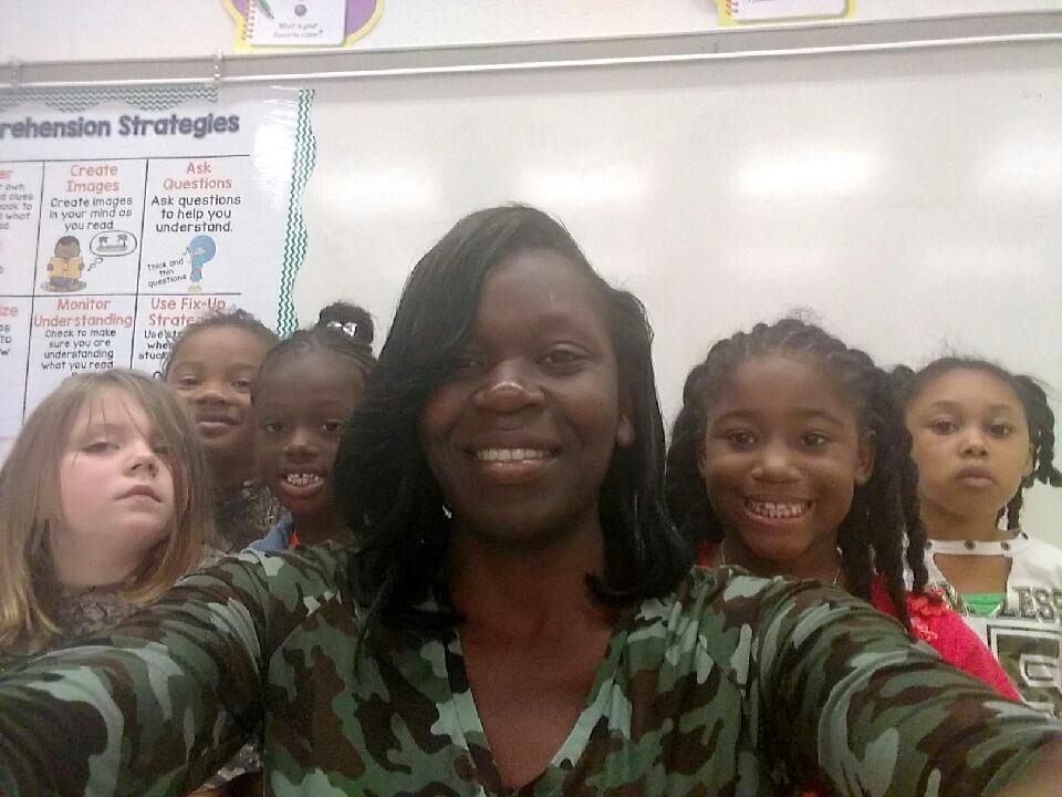 Mrs. Gates and students