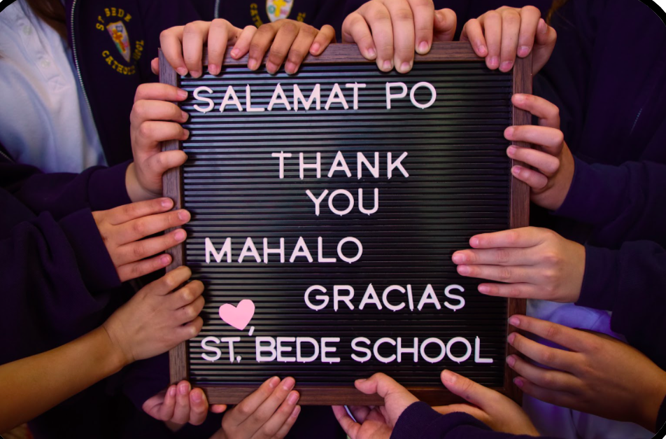Thank you from St. Bede Catholic School!