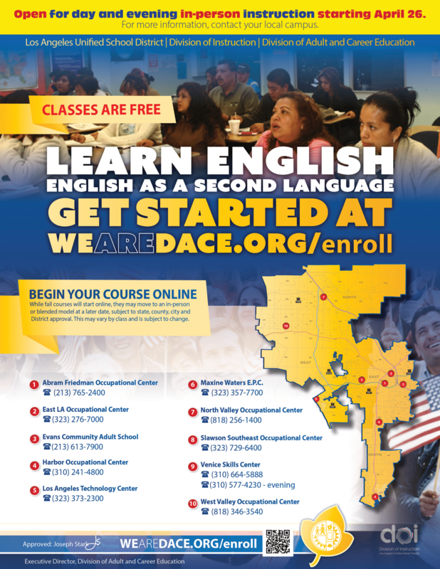 Now Enrolling for English as Second Language Featured Photo