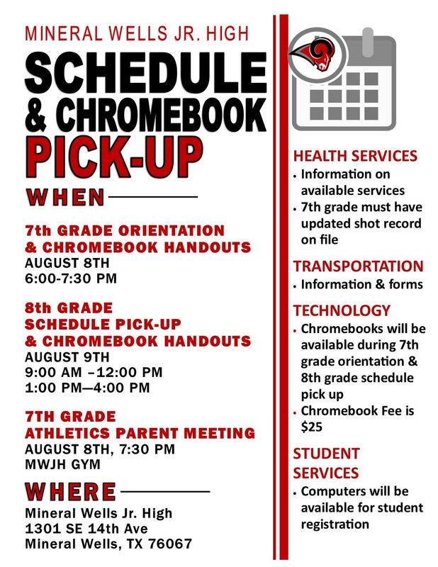 8th grade schedule pick up