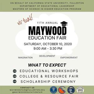 Maywood Education Fair English Flyer