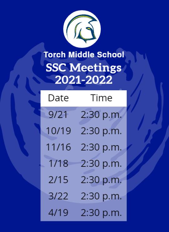 SSC Schedule 2021-2022