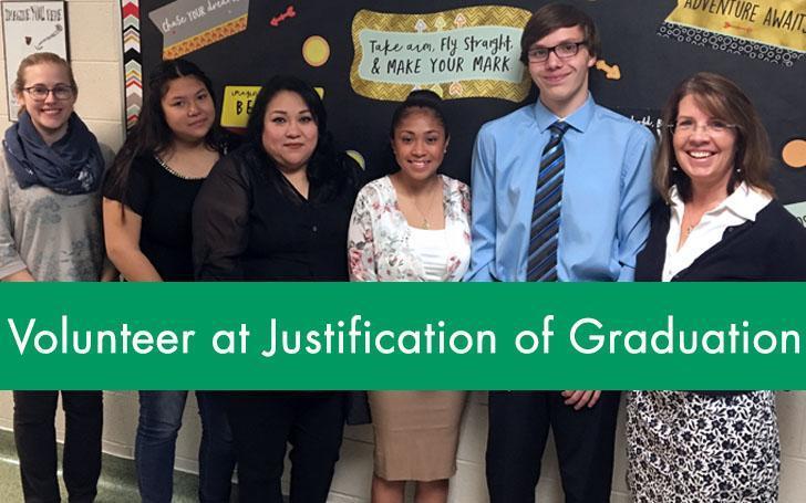 Volunteer at Justification of Graduation