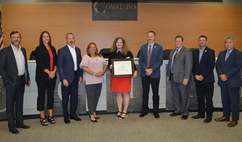 Comal ISD Board of Trustees and Katie Bigss