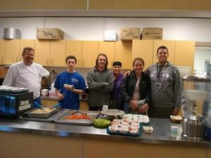 Chef Sean Conry with PHS Students