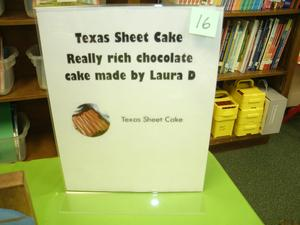 Chocolate Texas Sheet Cake for United Way drawing.