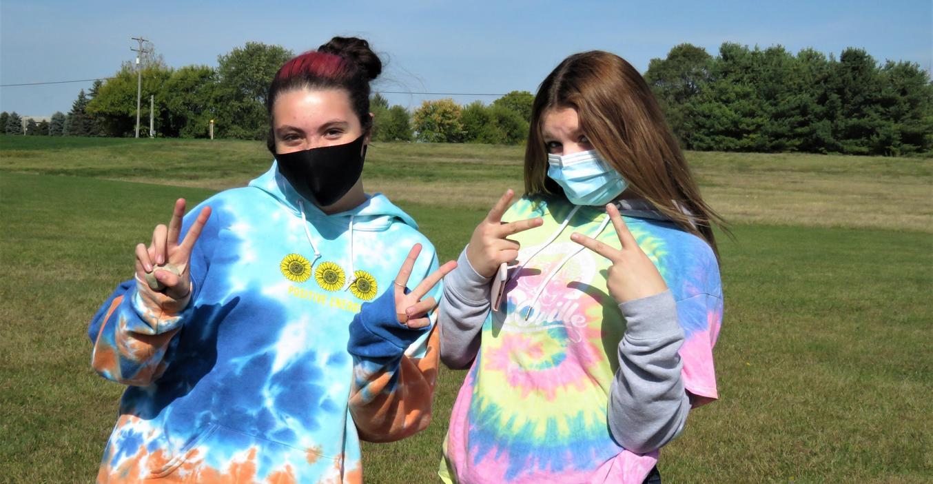 TK students take part in spirit week's Tie Dye Day.