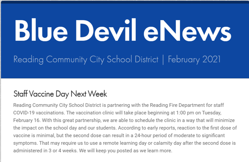 Cover of the February Blue Devil eNews