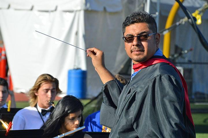 Mr Garcia leading the band