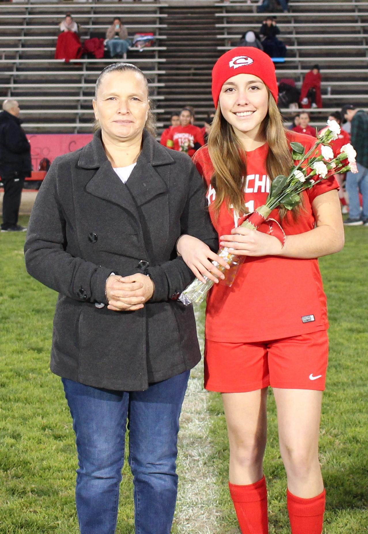 Marlen Torres at soccer senior night