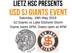 Logo for USD SJ Giants Game