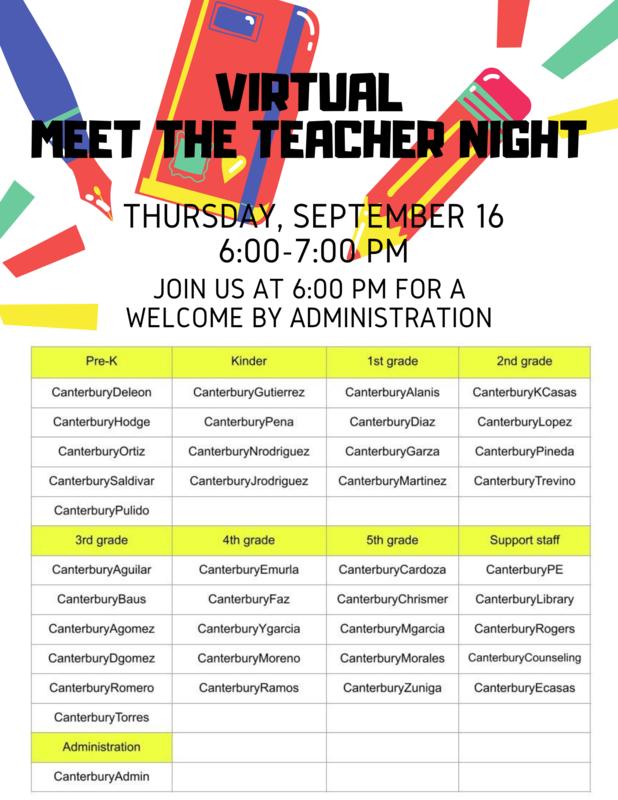 Virtual Meet the Teacher
