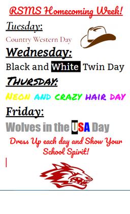 dress-up days flyer