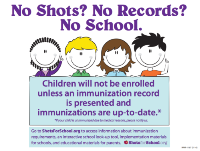 No shots No School