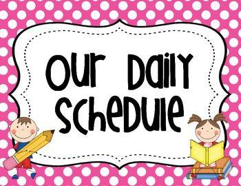 Clip Art for our the daily schedule