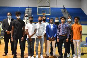 Natchez Middle School Football Players and Coaches