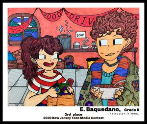 E. Baquedano's drawing of two kids talking