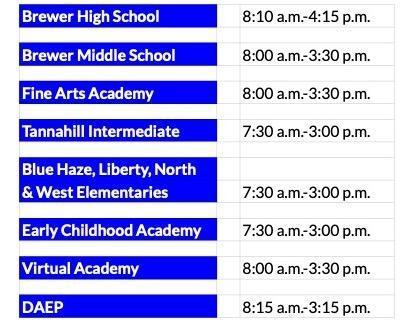 2021-22 School Hours