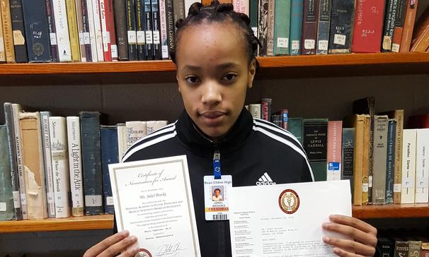 Jakel Brooks was nominated for the National Academy of Future Physicians and Medical Scientists Award of Excellence