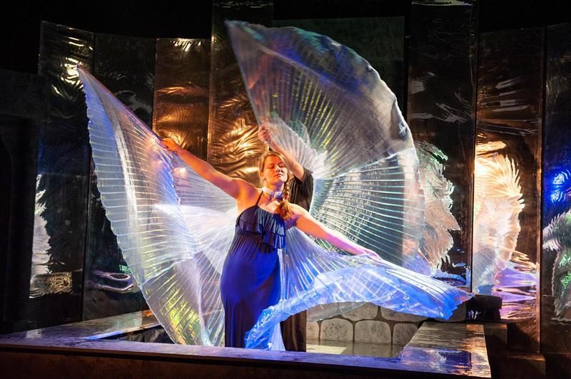 Student performing Metamorphoses