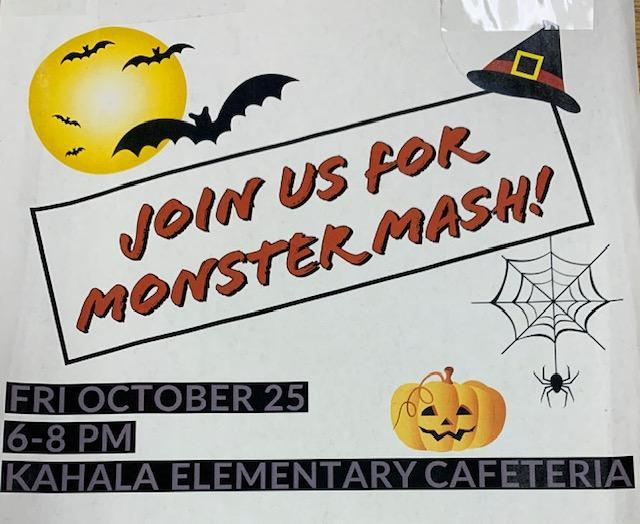 Monster Mash Halloween Dance - Friday, October 25th  6:00pm-8:00pm Featured Photo