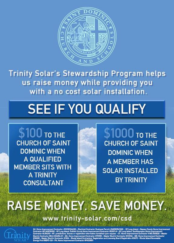 TRINITY SOLAR AND SAINT DOMINIC STEWARDSHIP PROGRAM Featured Photo