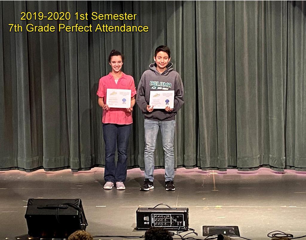7th Grade Perfect Attendance