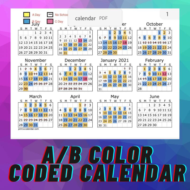 A-B calendar