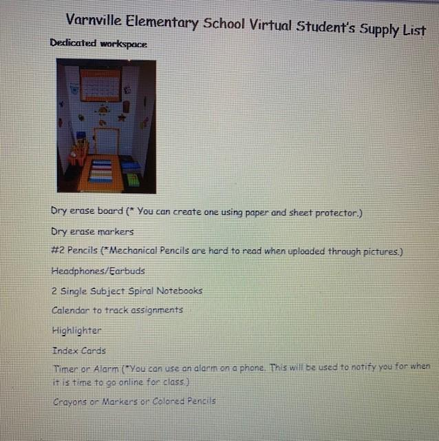 Virtual Supply List