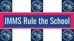 JMMS Rule the School with JMMS eagle head logo