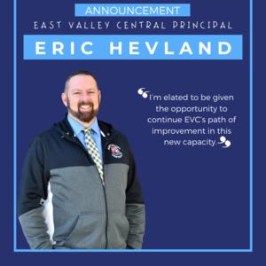 Eric Hevland Principal Announcement Instagram.png