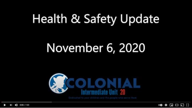 Health and Safety Update - November 6, 2020 Featured Photo