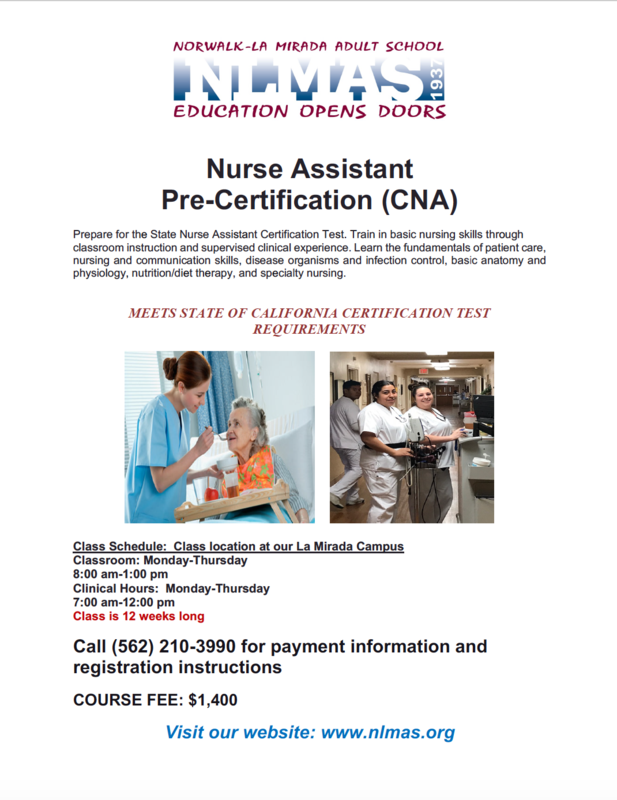 Register for CNA in Spring 2021! Featured Photo