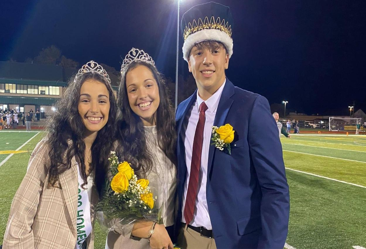 crowning of Homecoming King and Queen
