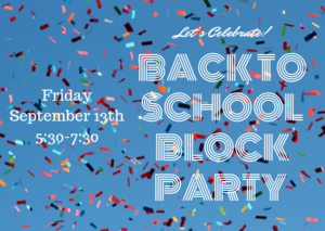 back to school block party 9/13/19