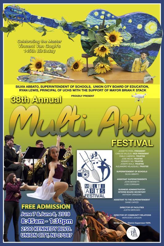 multi-art festival poster