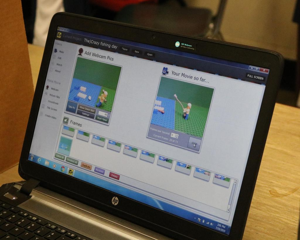 Photo of laptop screen.