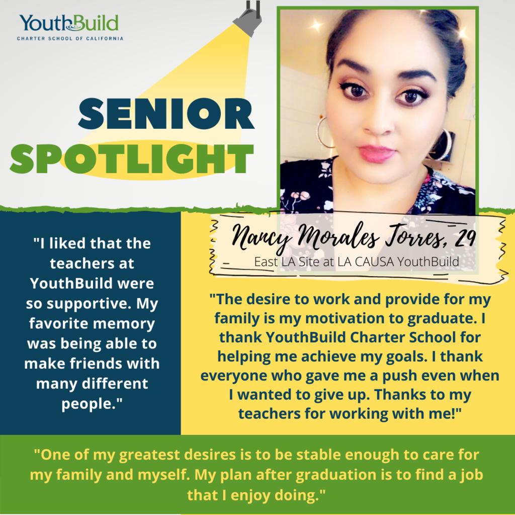 Senior Spotlight for graduate Nancy Morales Torres