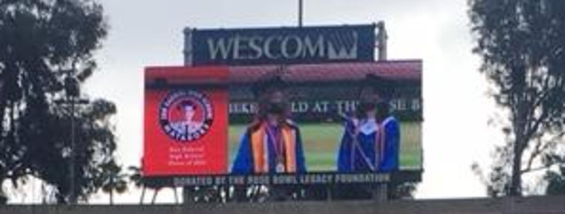 SGHS 2021 Graduates on screen