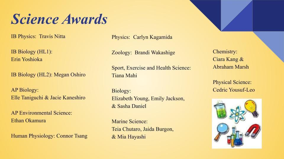 Science Awards