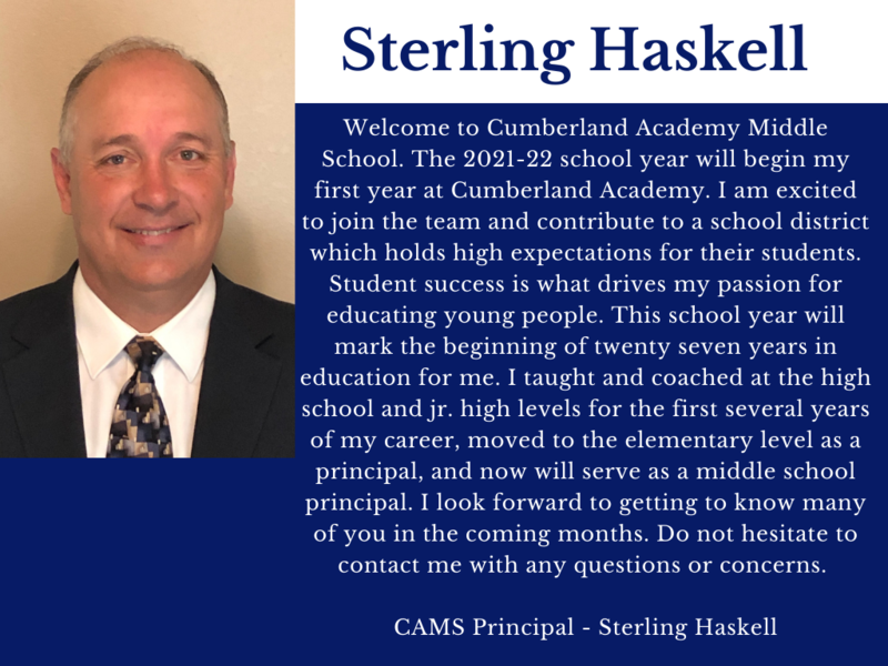 Proud To Announce Our New CAMS Principal !!!!!!! Featured Photo
