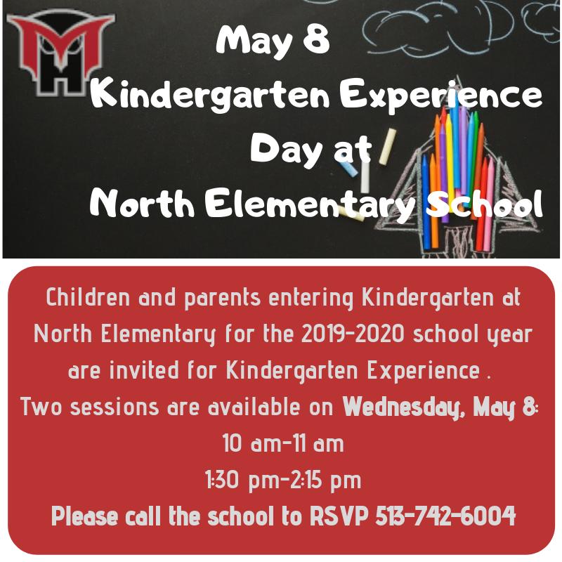 Kindergarten experience an hour in school