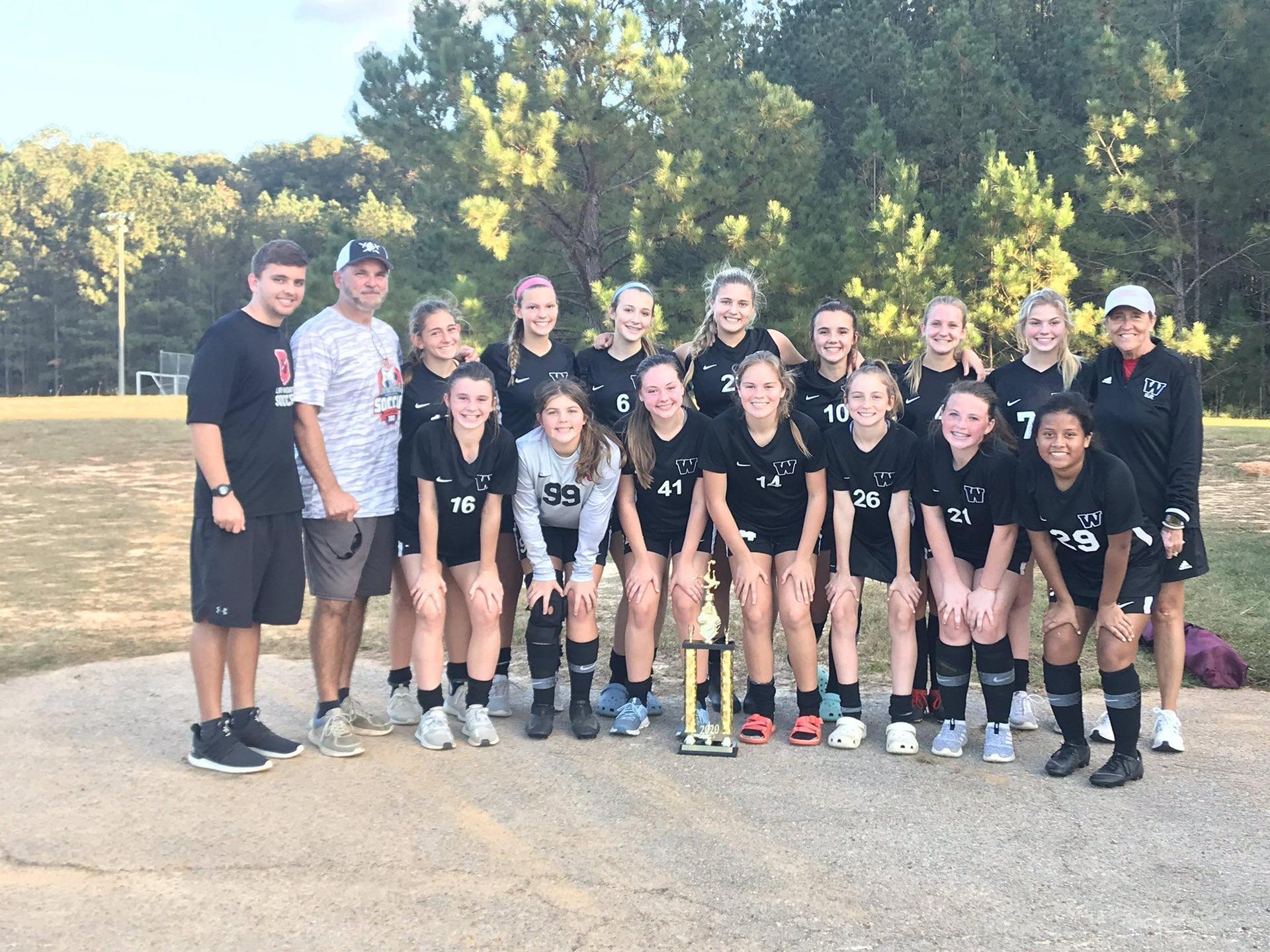 WLHS 2020 JV Girls Soccer Team