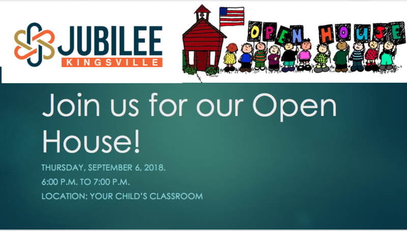 Open House 9/6/18 from 6pm to 7pm