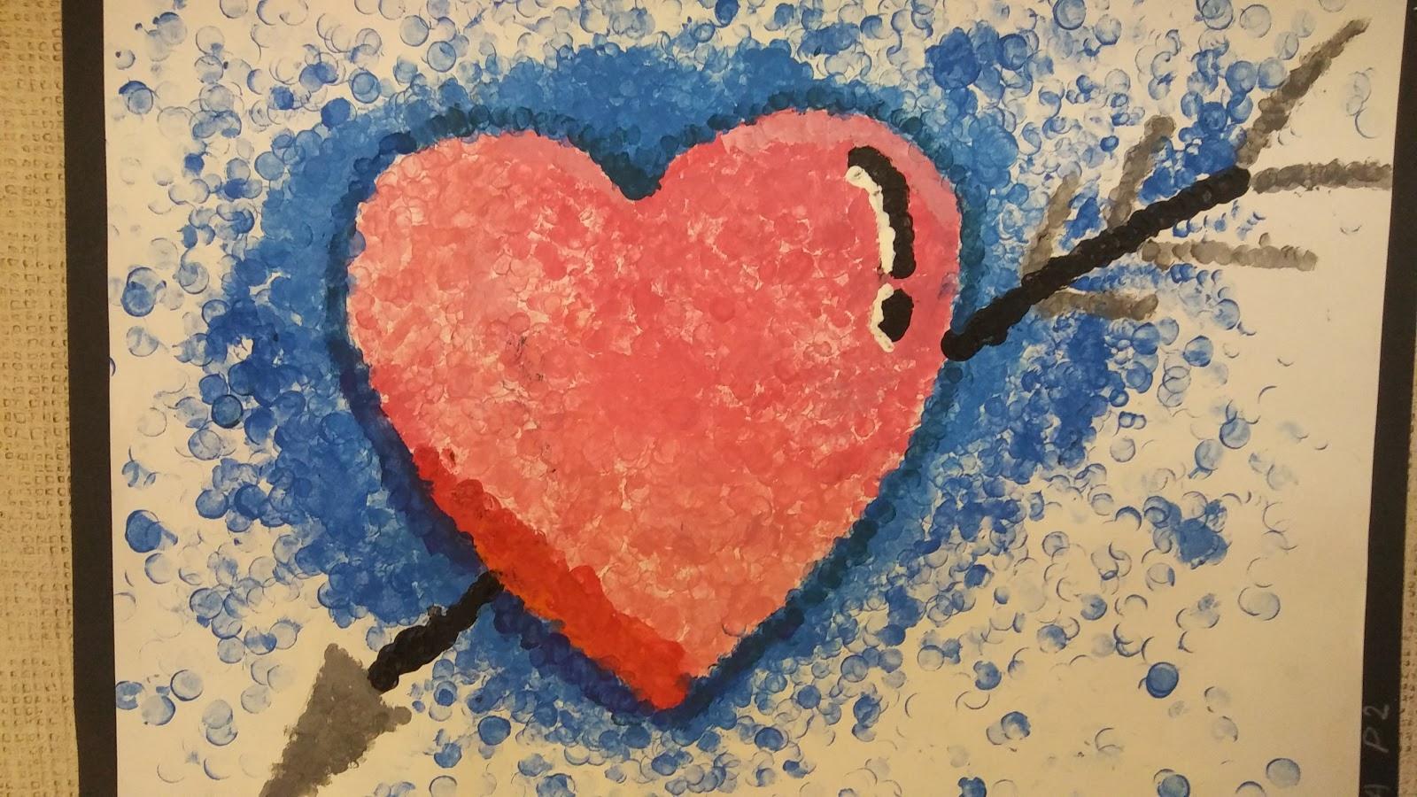 Landmark Student Painting of Heart